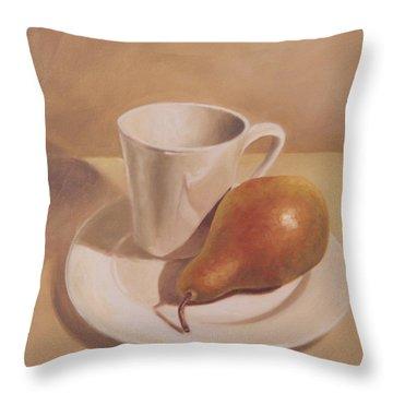 What A Pear Throw Pillow by Eva Folks