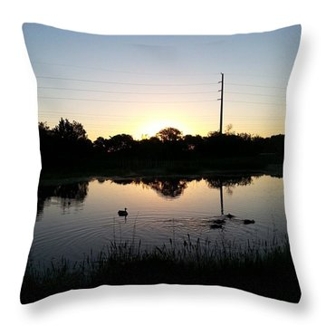 As The World Awakens Throw Pillow