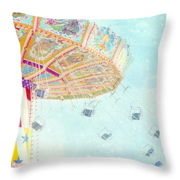 What A Ride Throw Pillow by Amy Tyler
