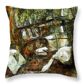 What A Ride Throw Pillow by Claire Bull