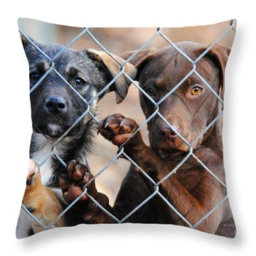 What About Us Throw Pillow by Jai Johnson