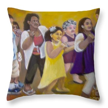 Throw Pillow featuring the painting What America Should Look Like by Saundra Johnson