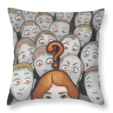 What Throw Pillow by Amy S Turner