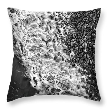 What Are Waves, Black And White Throw Pillow