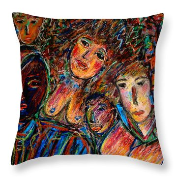 What Are You Looking At-17 Throw Pillow by Natalie Holland
