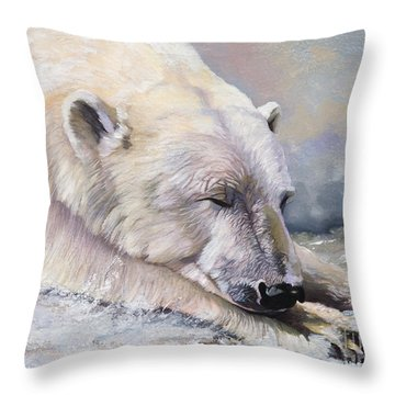 What Do Polar Bears Dream Of Throw Pillow