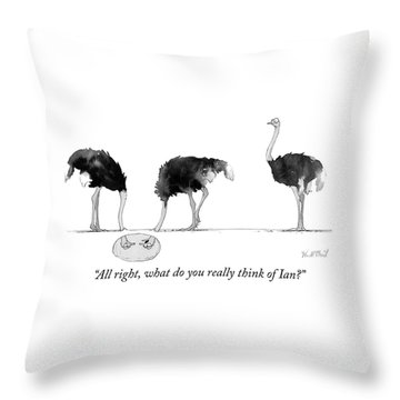 What Do You Really Think Of Ian Throw Pillow