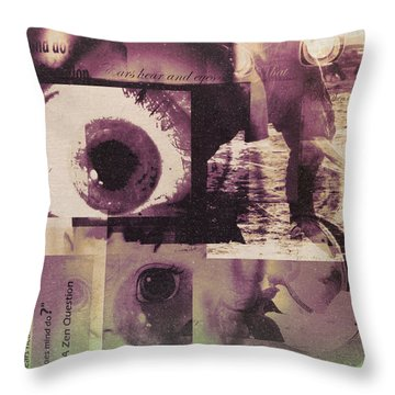 What Does The Eye See Throw Pillow