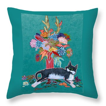 What Flowers Throw Pillow