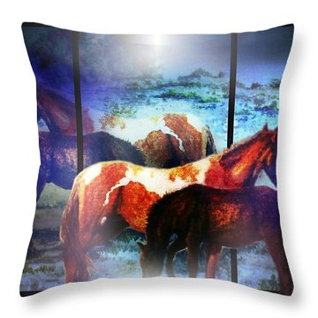 What  Horses Dream Throw Pillow