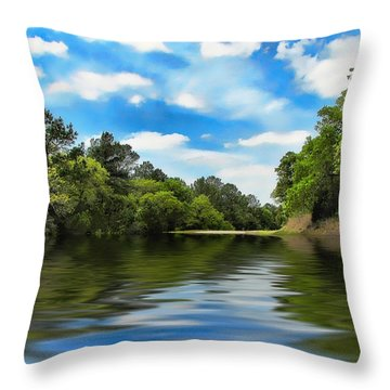 What I Remember About That Day On The River Throw Pillow