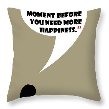 What Is Happiness - Mad Men Poster Don Draper Quote Throw Pillow