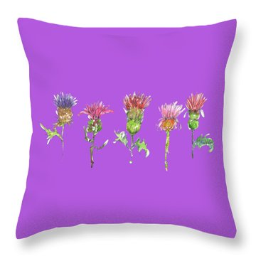 What Is It About A Thistle Fl006 Throw Pillow