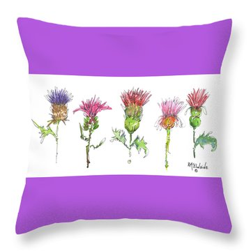 What Is It About A Thistle Throw Pillow