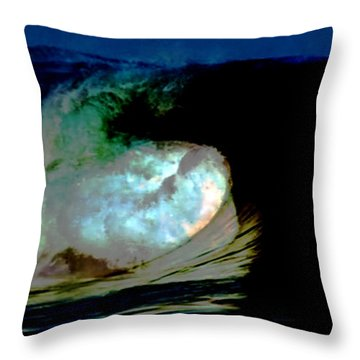 What Is It Fantasy Fusion Accidental Discovery Art  Psychedelic Throw Pillow