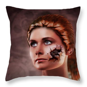 What Lies Throw Pillow by Scott Meyer