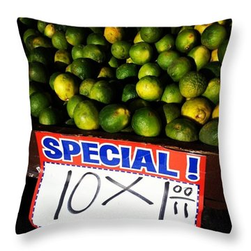 Throw Pillow featuring the photograph What Lime Shortage? #dontbelievethehype by Mr Photojimsf
