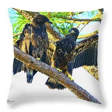 Throw Pillow featuring the photograph What Shall I Say by Deborah Benoit