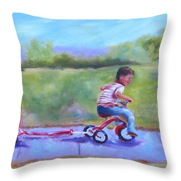 What Should We Do Today? Throw Pillow by Carol Berning