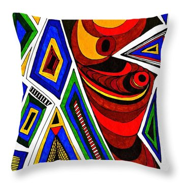 What The Eye Sees Throw Pillow by Sarah Loft