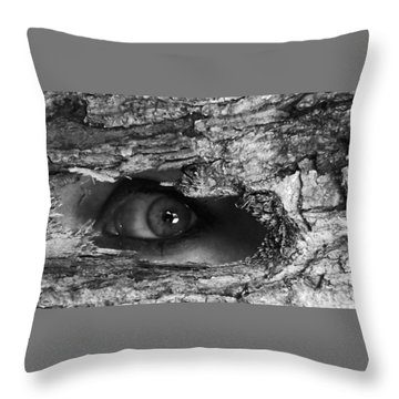 What The Forest Sees Throw Pillow