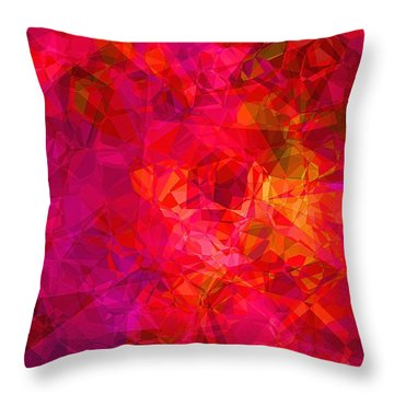 Throw Pillow featuring the digital art What The Heart Wants by Wendy J St Christopher