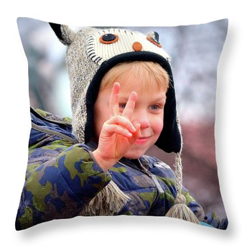 What The World Needs Now Throw Pillow by Barbara Dudley