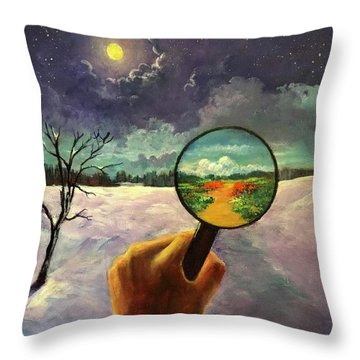 What We Choose To See Throw Pillow