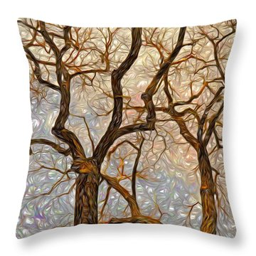 What We See The Mind Believes Throw Pillow by James Steele