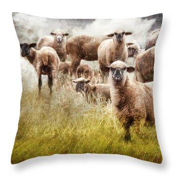 Throw Pillow featuring the photograph What You Lookin' At? by Rhonda Strickland