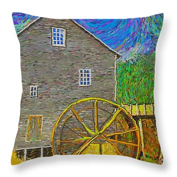 Water Wheel  Throw Pillow