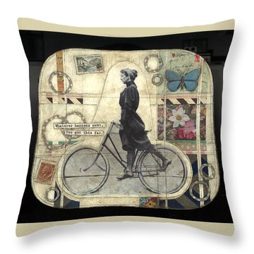 Whatever Happens Throw Pillow by Casey Rasmussen White