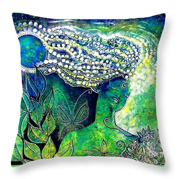 Whatever Happens, Extract Pearls Throw Pillow