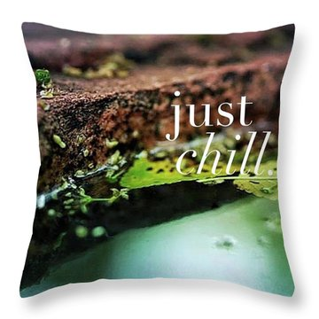 Whatever Is Going On, Just Chill Throw Pillow by Crystal Rayburn