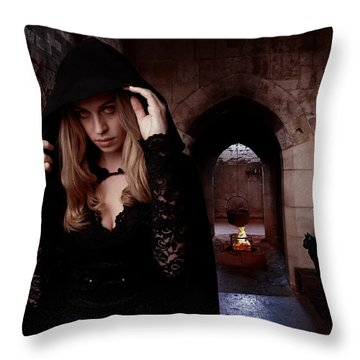 What's Brewing Throw Pillow by Linda Lees