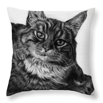What's For Dinner Throw Pillow by Jyvonne Inman