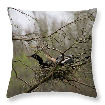 What's Going On There Throw Pillow