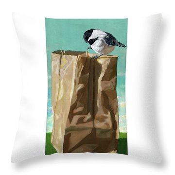 What's In The Bag Original Painting Throw Pillow