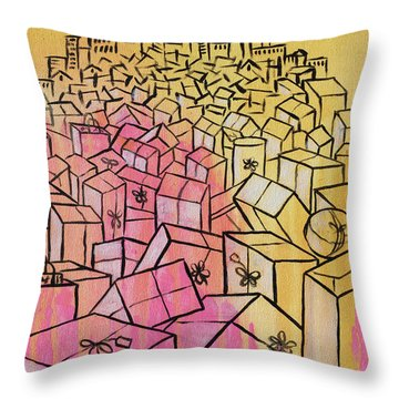 Throw Pillow featuring the painting What's Mine Is Yours by Nathan Rhoads