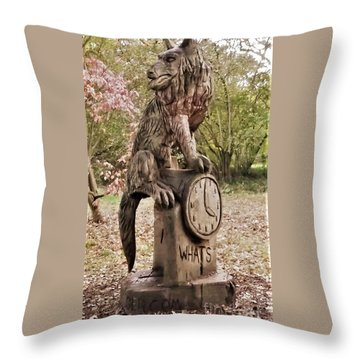 Whats The Time Mr Wolf Throw Pillow by John Williams