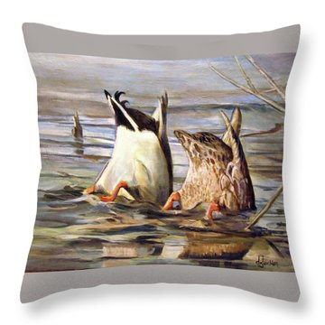 What's Up Throw Pillow by Donna Tucker