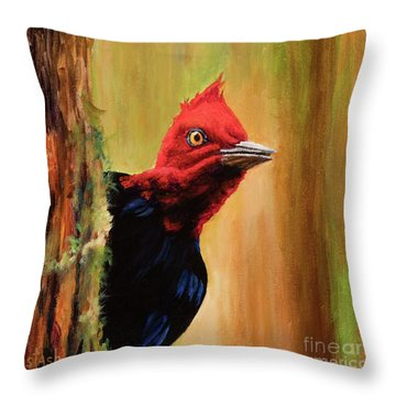 Throw Pillow featuring the painting Whats Up? by Igor Postash