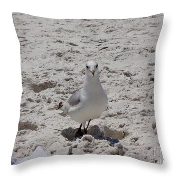 What's Up? Throw Pillow by Megan Cohen