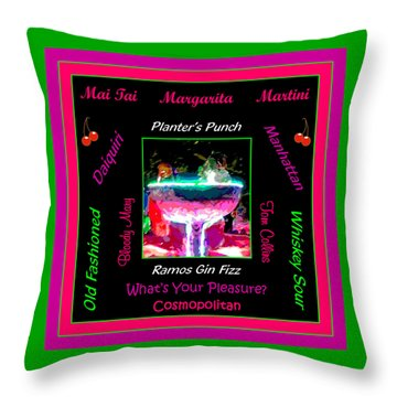 What's Your Pleasure Throw Pillow by Marian Bell