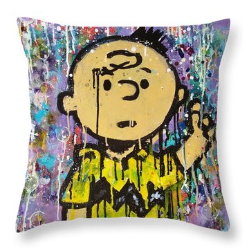 What.up.chuck Throw Pillow