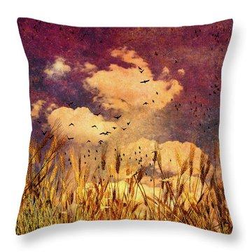 Wheat Field Dream Throw Pillow by Bob Orsillo