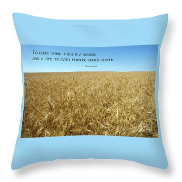Wheat Field Harvest Season Throw Pillow