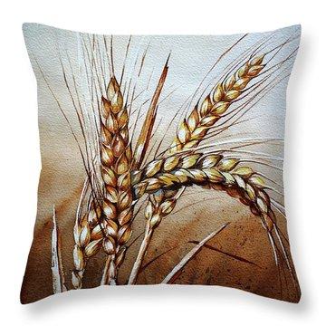 Wheat Stalk Throw Pillow