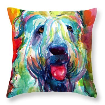 Wheaten Terrier Dog Portrait Throw Pillow