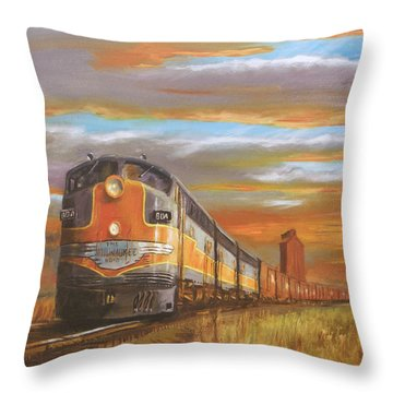 Wheat....from North Dakota Throw Pillow by Christopher Jenkins